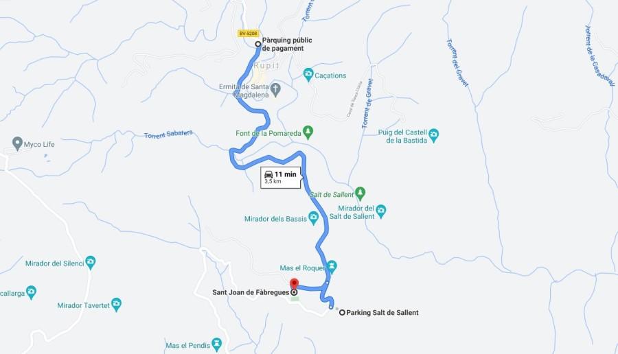 Ruta a Sant Joan de Fàbregues